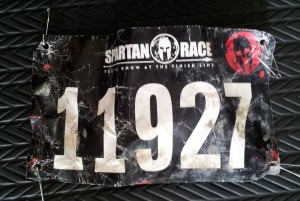 My race number after running the Spartan Race